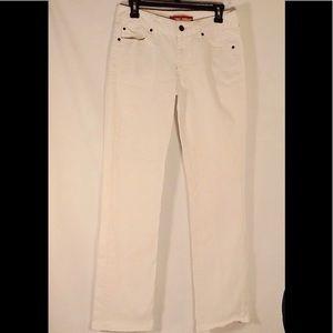 Gap Curvy Straight White Jeans